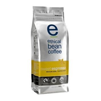 Ethical Bean Coffee Company Sweet Espresso Medium Dark Roast, 12-Ounce Bags (Pack of 2)