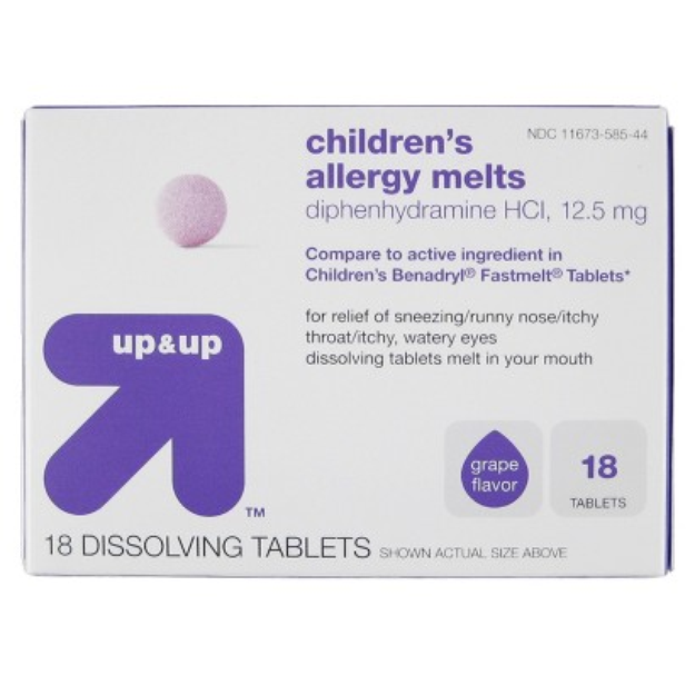 up & up Children's Allergy Relief Tablets 18-pk. - Grape