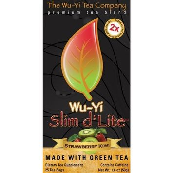The Wu-yi Tea Company The Wu Yi Tea Company Slim d'Lite Green Tea, Strawberry Kiwi, 25-Count