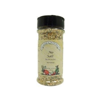 Lizzie's Kitchen No Salt Seasoning, 4.1-Ounce Plastic Jars (Pack of 4)