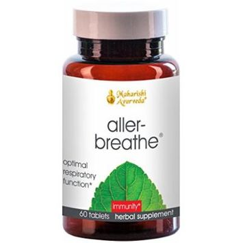Aller-Breathe , Detox & Soothe the Respiratory Tract with Turmeric, Amla & Hyssop , Restores Moisture Balance & Promotes Healthy Functioning of Bronchial System , Helps with Congestion , 60 Herbal Tablets