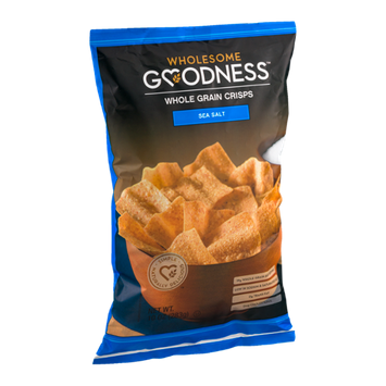 Wholesome Goodness Whole Grain Crisps Sea Salt