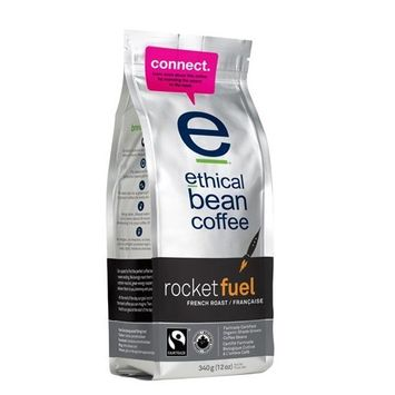 Ethical Bean Coffee Company Rocket Fuel French Roast, 12-Ounce Bags (Pack of 2)