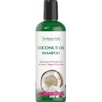 Puritan's Pride Coconut Oil Shampoo-12 oz Bottle