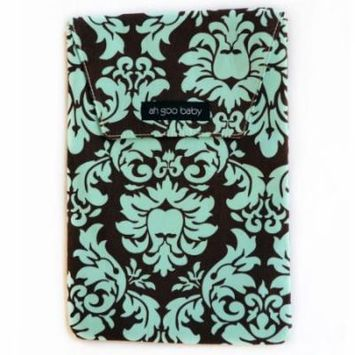 Ah Goo Baby The Diaper Pouch, Teal, Chocolate Multi-Colored
