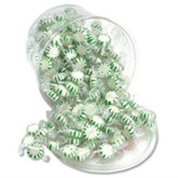 Office Snax Starlight Mints, Spearmint Hard Candy, Indv Wrapped, 2lb Tub
