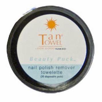 TanTowel Nail Polish Remover Towelettes Beauty Puck