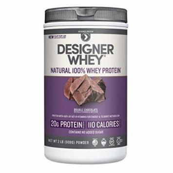 Designer Protein 100% Premium Natural Whey Protein Powder with Acti-Blend, Double Chocolate, 32 Ounce Container