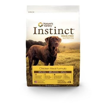 Nature's Variety Instinct Grain-Free Dry Dog Food, Chicken Meal Formula, 25.3-Pound Package