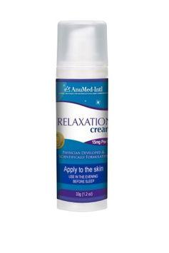 Relaxation Cream AnuMed Intl 1.2 oz Cream