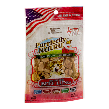 Loving Pets Purrfectly Natural Cat Treats Beef Lung