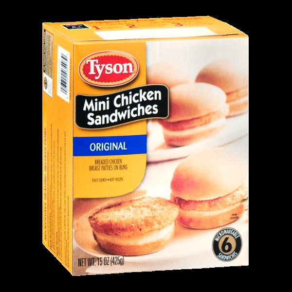 Tyson Mini Chicken Sandwiches Original - 6 CT