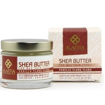 Alaffia- Handcrafted Fair Trade Shea Butter, Vanilla Ylang Ylang- 2 oz
