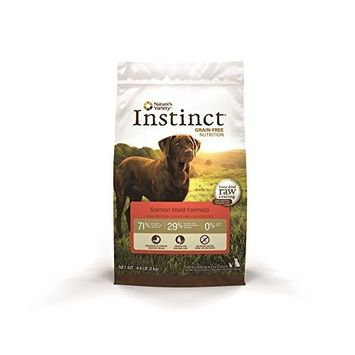 Instinct Grain-Free Salmon Meal Dry Dog Food by Nature's Variety, 4.4-Pound Package