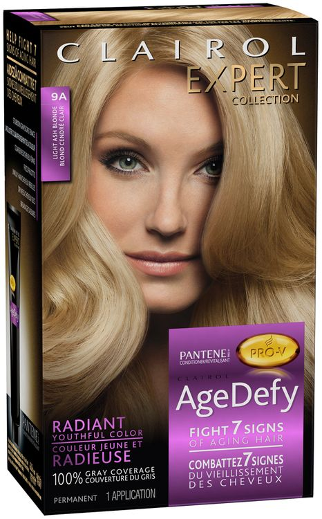 Clairol Age Defy Expert Collection 9A Light Ash Blonde 1 Kit