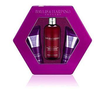Baylis & Harding Midnight Fig and Pomegranate Tin - 3-Piece Gift Set by Baylis & Harding