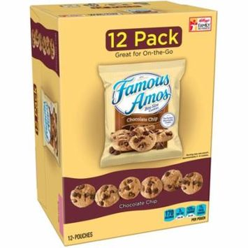 Famous Amos Chocolate Chip Bite Size Cookies 12 Ct (Pack Of 4)