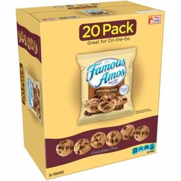 Famous Amos Chocolate Chip Bite Size Cookies 20 Ct (Pack Of 4)