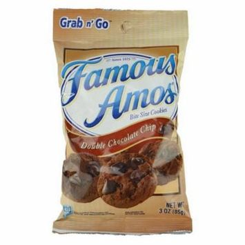 Famous Amos 7667710053 Famous Amos Cookies Double Chocolate Chip 18oz 6Ct