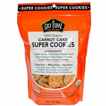 Go Raw Sprouted Cookies - Carrot Cake - Case of 12 - 3 oz.