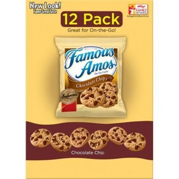 Famous Amos Chocolate Chip Cookies - 12 Pack (2 Box)