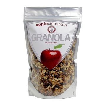 Leila Bay Trading Company Apple Cinnamon Granola, 12-Ounce Pouches (Pack of 3)