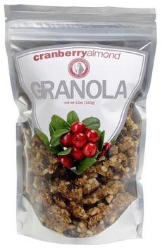 Leila Bay Trading Company Cranberry Almond Granola, 12 oz Pouches, 3 pk