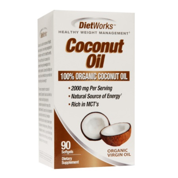 DietWorks Coconut Oil Healthy Weight Management Softgels - 90 Count