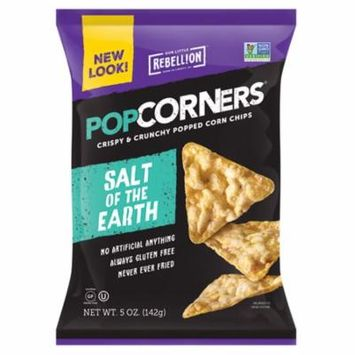 Popcorners Salt of the Earth Popped Corn Chips 5 oz Bags - Pack of 12