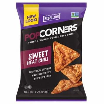 Popcorners Sweet Heat Chili Popped Corn Chips 5 oz Bags - Pack of 12