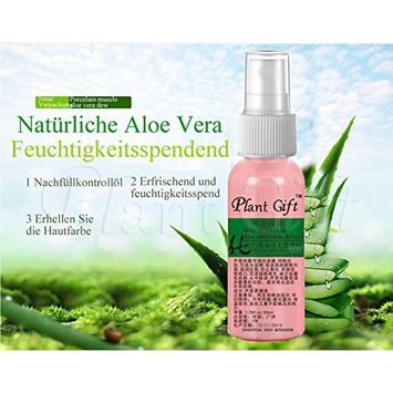 Plant Gift Advanced organic -Aloe vera Hydrosol 100% ,Has a good moist, soft and smooth, moisturizing anti-inflammatory, soothing effect.-50ml(1.7oz)