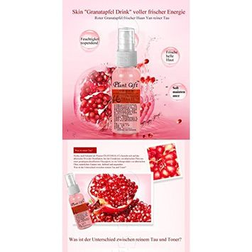 Plant Gift Advanced organic -Red pomegranate Hydrosol 100% ,Improve skin dull, yellowing phenomenon, so that the skin crystal clear,-50ml(1.7oz)