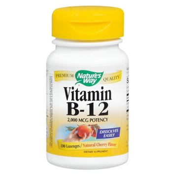 Nature's Way Vitamin B-12 Dietary Supplement Lozenges