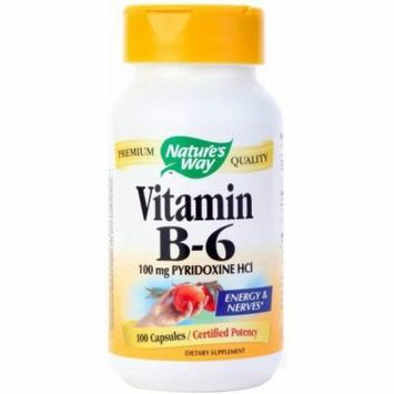 Nature's Way Vitamin B6 Capsules, 100 CT (Pack of 2)