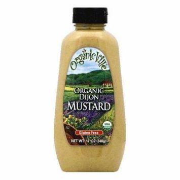 OrganicVille Dijon Organic Mustard, 12 OZ (Pack of 12)
