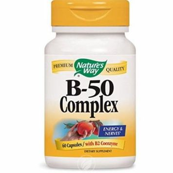 Nature's Way Vitamin B-50 Complex 60 Cp , Pack of 2