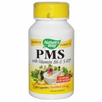 Nature's Way - PMS, With Vitamin B6 and 5-HTP, 418 mg, 100 Capsules, Pack of 2