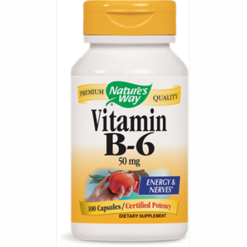 Nature's Way - Vitamin B-6, 100 Capsules, Pack of 2