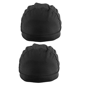 MagiDeal 2 Pcs Black Spandex Dome Cap Mesh Hair Net for Making Wigs Snood Stretchy Wig Cap