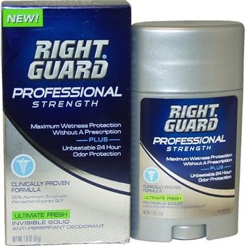 Right Guard Professional Strength Invisible Solid Anti Perspirant Men Deodorant Stick, 1.8 Ounce