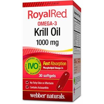 Webber Naturals Royal Red Krill Oil Softgels, 1000 mg 30 Count
