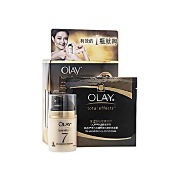 Olay Total Effects Set UV Protection Treatment & De-Wrinkle Mask