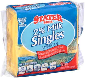 Stater bros® 2% Milk American Cheese Singles