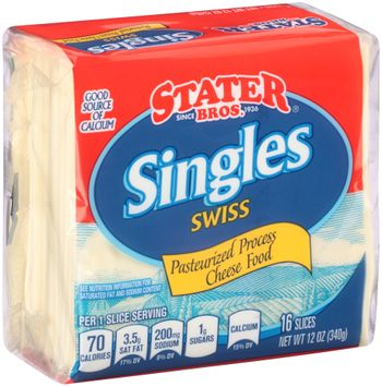 Stater bros® Swiss Cheese Singles