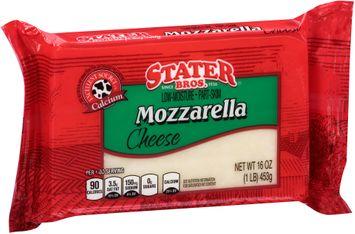 Stater bros® Low-Moisture Part-Skim Mozzarella Cheese