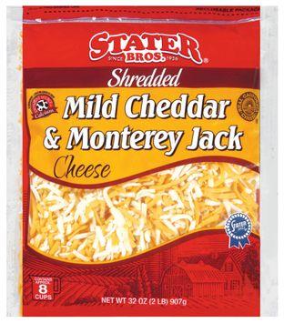 Stater bros Shredded Mild Cheddar & Monterey Jack Cheese
