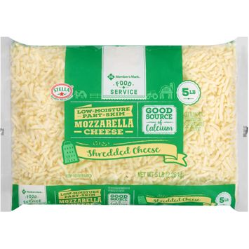 stella® member's mark™ food service low-moisture part-skim shredded mozzarella cheese