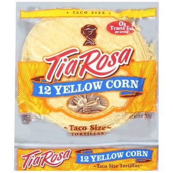 Tia Rosa: Tortillas Corn Yellow Taco Size Bread, 13 oz