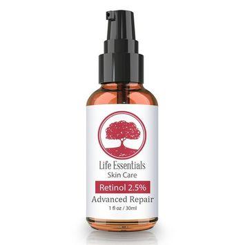 Retinol Serum 2.5% for Wrinkles, Fine Lines, Acne Scars, Skin Blemishes & Minimizes Pores - Vitamin A + Hyaluronic Acid, Vitamin E, Organic Green Tea, Jojoba Oil - Organic, Natural & Cruelty Free