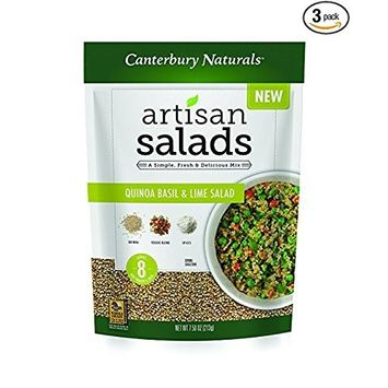 Canterbury Naturals Whole Grain Quinoa Basil and Lime Artisan Salad Mix, 7.5 Ounce Bag, Pack of 3 [Quinoa Basil & Lime]